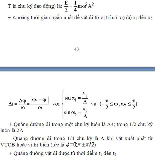Lý thuyết về dao động cơ học
