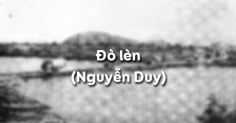 Soạn bài Đò lèn (Nguyễn Duy)