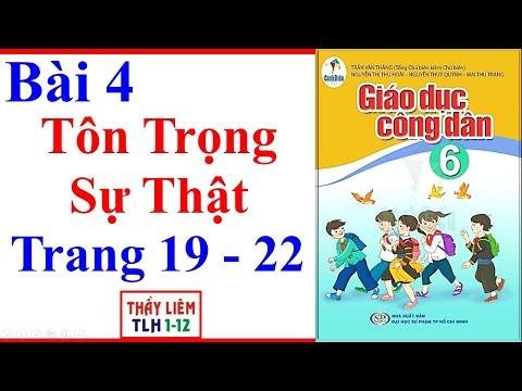 GDCD 6 Bài 4 Tôn trọng sự thật trang 19, 20, 21 SGK Cánh Diều
